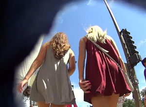 upskirt vid with 2 beautiful nubile..