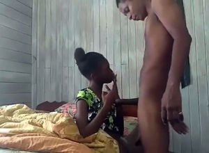 Ebony guyanese damsel gives head