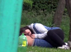 Little girl Latin duo caught in the Park