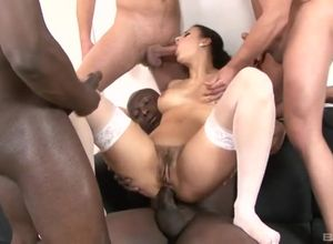 Billie Starlet gets bi-racial dual poked