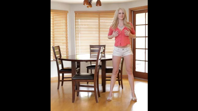 Big-boobed light-haired Teen uses her..